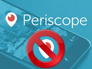 eliminar cuenta Periscope