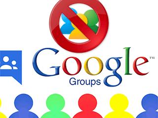 Eliminar un grupo en Grupos de Google