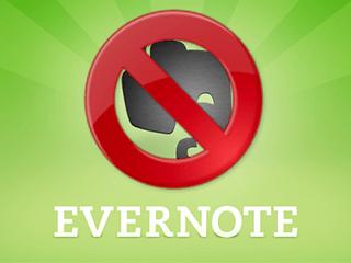 Eliminar una cuenta de Evernote