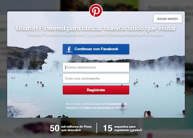 cómo borrar una cuenta de Pinterest