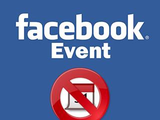 Eliminar un evento de Facebook